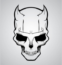 Devil Skull vector image vector image