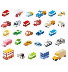 isometric flat cars vector image vector image