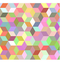 Colorful 3d cube mosaic background design vector image