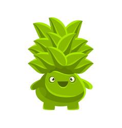 happy smiling succulent emoji cartoon emotions vector image vector image