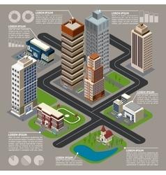 Isometric City Infographics vector image vector image