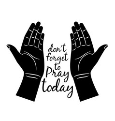 jesus praying hands silhouette vector image vector image
