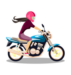 attractive young woman on bike vector image