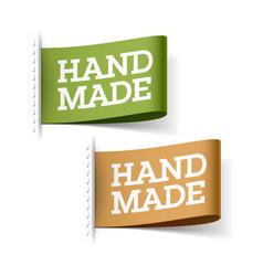 handmade labels vector image vector image