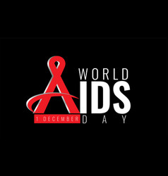 1 december world aids day concept vector