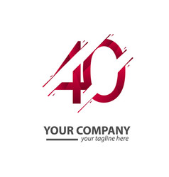 40 year anniversary your company template design vector