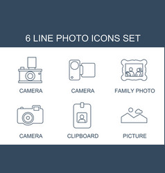 6 photo icons vector image