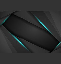 abstract black with blue frame template layout vector image