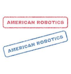 American robotics textile stamps vector