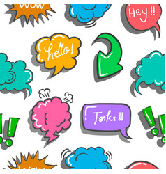 Art of text balloon doodles vector