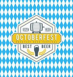 Beer festival oktoberfest celebration retro style vector