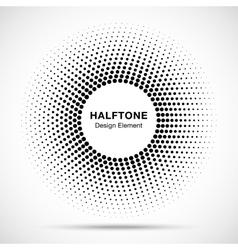 Black Abstract Circle Frame Halftone Dots Logo vector