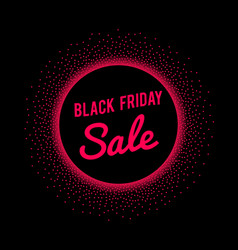 black friday sale banner with red text signage in vector image