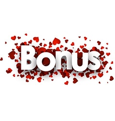 Bonus 3d sign vector image