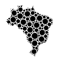 Brasil map mosaic of circles vector