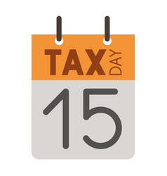 calendar reminder with tax day vector image