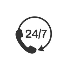 call 24 icon call centre vector image