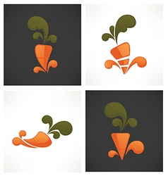 carrot symbols vector image