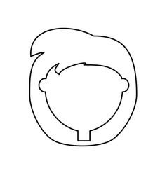 cartoon woman icon vector image vector image