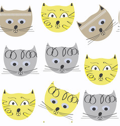 cats seamless pattern it is located in swatch vector image