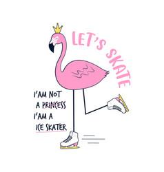 Ce skater flamingo vector