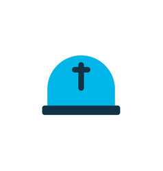 Cemetery icon colored symbol premium quality vector