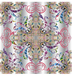 Elegance vintage paisley seamless pattern vector