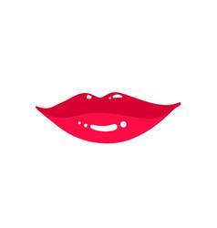female lips isolated on white background vector image