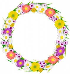 flower wreath vector image
