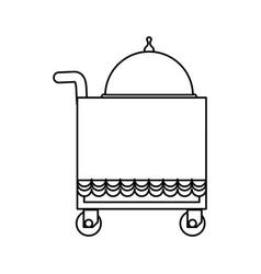 Food service trolley vector