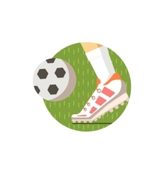 Football Round Sticker vector