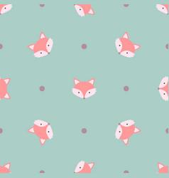 Fox cute kids animal seamless pattern vector