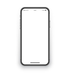 frameless smartphone screen mockup vector image