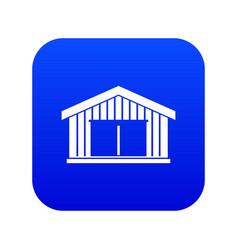 Garage icon digital blue vector