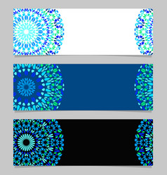 Geometrical horizontal abstract gemstone mandala vector