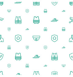 guard icons pattern seamless white background vector image