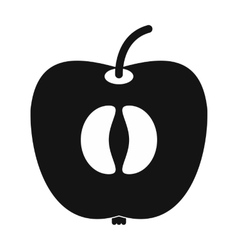 Half of fresh apple icon vector image vector image
