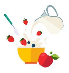 healthy breakfast vector image
