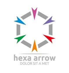 Hexa arrow design icon symbol star vector