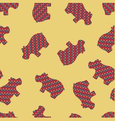 hippopotamus seamless pattern vector image