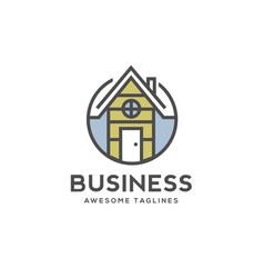 home building color logo vector image vector image