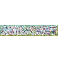 Horizontal background with colorful Zebra skin vector image