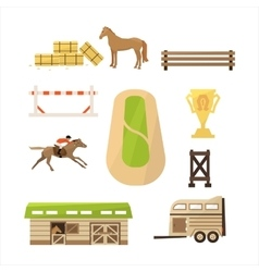 Horse Sport Icons Set vector image vector image