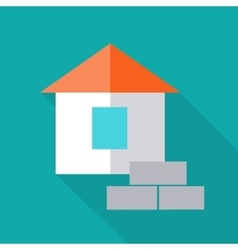 House In Flat Design vector
