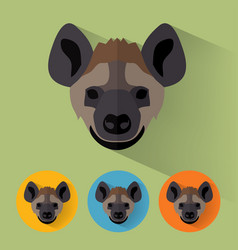 Hyena portrait with flat design vector