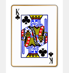 king clubs vector image