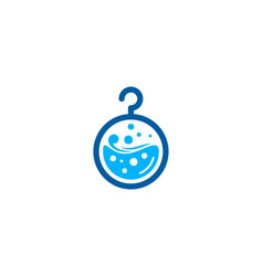 Lab laundry logo icon design vector