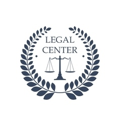 Legal center icon law justice scales symbol vector