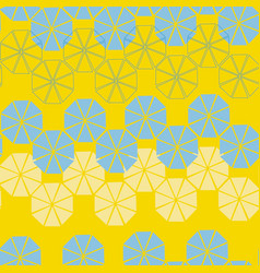 lemon and blue triangles circles background vector image
