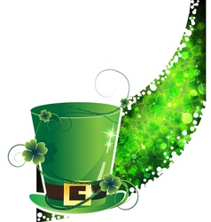 Leprechaun hat and abstract clover wave vector